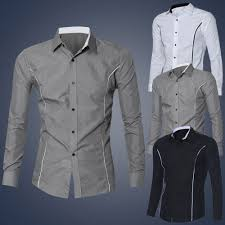Mens Design Dress Shirts Feitong New Design Brand Clothing Mens Luxury Long Sleeve Casual Slim Fit Stylish Dress Shirts Chemise Homme Xxl