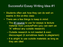 success on exams avoiding plagiarism successful essay writing 4 successful essay writing