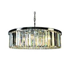 white wing collection 8 light satin nickel chandelier with crystal shade