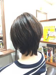 段が入って軽いスタイルが似合う髪型のカット福岡市南区大橋のショート