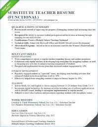 It Teacher Resume Substitute Teacher Resume Examples 40 Best Teacher Resume Template
