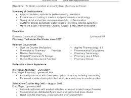 Pharmacy Technician Resume Objective Magnificent Objective For Pharmacy Technician Resume Iv New Entry Level