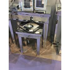mirror effect furniture. Bella Mirrored Console Table With Crushed Diamond Effect Mirror Furniture E