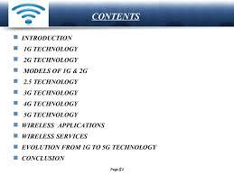 1g 2g 3g 4g 5g Comparison Chart Presentation On 1g 2g 3g 4g 5g Cellular Wireless Technologies