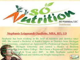 so nutrition llc nutritionist