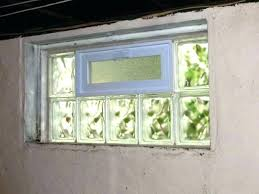 glass block windows installed window install basement merry installing in concrete how