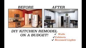 Budget For Kitchen Remodel Diy Kitchen Remodel Budget Kitchen Makeover