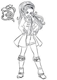 Descendants Coloring Pages Wicked World Cj Hook Get Coloring Page