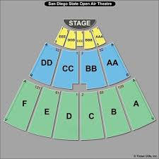 San Diego State Open Air Theatre Seating Chart Sdsu Open Air Theatre Seating Chart Best Picture Of Chart