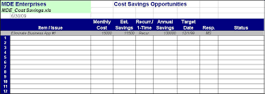 Cost Savings Tracking Template Cost Savings Template Magdalene Project Org