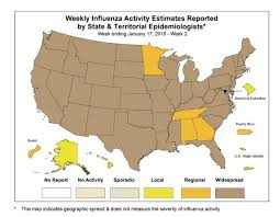 flu killed 11 more kids in u s this week cdc ny daily news Fluview Map this map shows the 44 states (in brown) that have widespread levels of the fluview map 2017