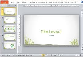 nice powerpoint templates beautiful powerpoint template with seashore design