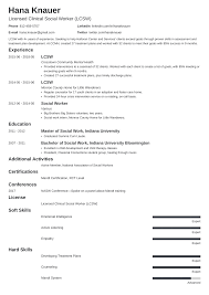example of a work resume social work resume samples and full writing guide 20 examples