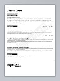 Resume Template Free Outline Best Examples For Your Job Resume