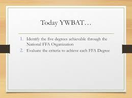 Bell Quiz List The Five Ffa Degrees In The Order They Are