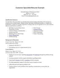 Resume Summary Experience Examples Therpgmovie