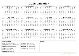 2018 Calendar Starting Monday Stln Me