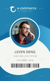 Business Id Template E Commerce Business Office Id Card Name Card Design Id