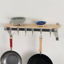 pot rack shelf. Exellent Pot Concept Housewares 30in X 8in Brown Rectangle Pot Rack Intended Shelf S