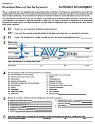 Form Certificate Exemption Streamlined Sales And Use Tax Agreement
