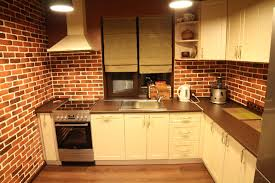 Brick Kitchen Floors Red Cabinets Floors Dark Kitchen Cabinets With Light Countertop