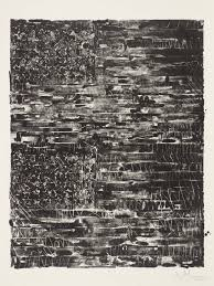 jasper johns two flags black