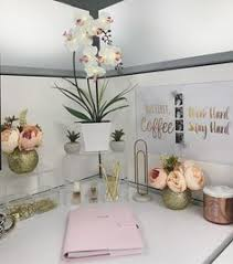 decorating office cubicle. Cubicle Desk Decor - Gold, Pink, Clear! Decorating Office Cubicle A
