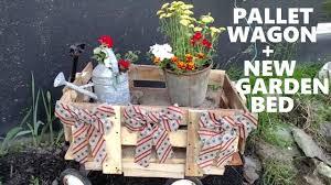 outdoor diy decor challenge pallet wagon and a new flower garden