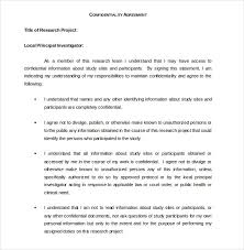32 Word Confidentiality Agreement Templates Free Download Free