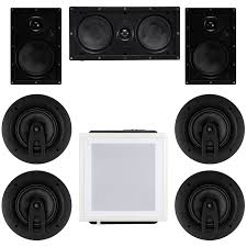 7 1 home theater in wall and ceiling speaker package