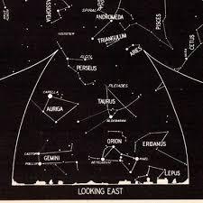 Constellation Chart 1942 November Sky Star Constellation Map Astronomy Print