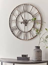 distressed indoor outdoor clock large