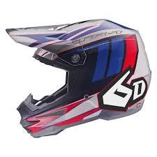 6d Helmets 10 3594 Atr 1 Point X Small Red White Blue Off Road Helmet
