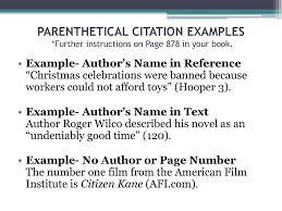 Works Cited Parenthetical Citations And More Dr Atkins Jeff
