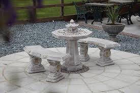 oriental outdoor furniture. Japanese Stone Benches \u0026 Table Patio Set - Garden Furniture Oriental Outdoor Furniture \