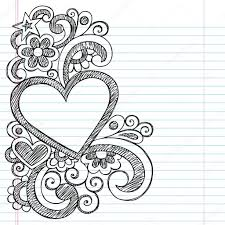 Easy Frame Design Drawing Cute Border Designs To Draw On Paper Easy Heart Frame