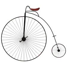high wheel bike wall art