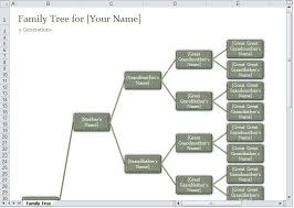 How To Create A Family Tree Chart In Excel Family Tree Template Excel Excel Family Tree Template