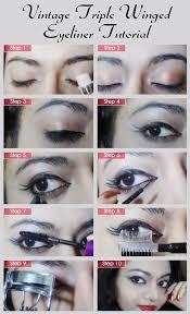 vine style triple winged eyeliner tutorial