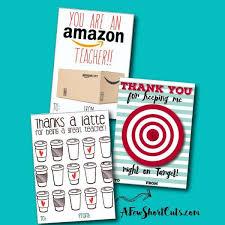 free teacher gift card printable thank you card idea a