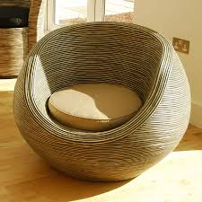Rattan Furniture Indoor: Rattan Conservatory Chairs Modern Curvy Ridged  Indoor Bowl Chairs