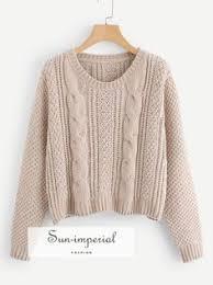 <b>Aproms Multi</b> Color <b>Blocked</b> Cropped Sweater Women Winter Deep ...