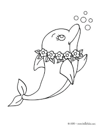 Lovely Dolphin Coloring Page Bottlenose Pages Printable Pdf