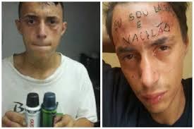 в сан паулу задержали вора с исчерпывающим тату на лбу я вор и идиот