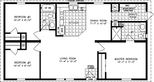 manufactured home floor plan the imperial model imp 4442a 3 bedrooms 2 exterior rendering jacobsen homes