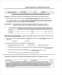 Income Verification Form Fascinating Free Verification Forms