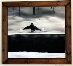 convoy fellowship crow and the bunnies petpitaworld finland finnish art diy paintingwooden framesart