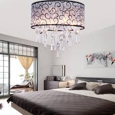 Modern Ceiling Lights For Bedroom Elegant Transparent Crystal Chandelier Pendant Light With 4 Lights