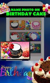 on birthday cake happy birthday app