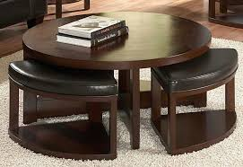 coffee table with seating underneath amazing of round coffee table with ottomans underneath with coffee table coffee table with seating